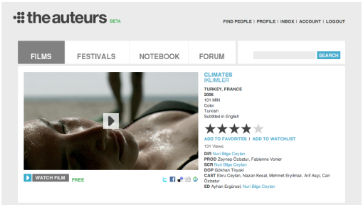 Climates at theauteurs.com